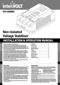 Switchmode Voltage Stabilisers | Download Manual