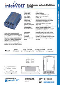 Switchmode Voltage Stabilisers | Download Technical Data Sheet