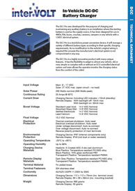 In-Vehicle DC-DC Battery Charger | Download Technical Data Sheet