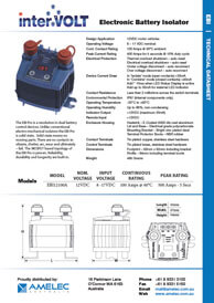 Electronic Battery Isolator   Download Technical Data Sheet